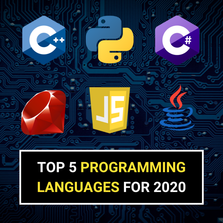 Top 5 Programming Languages For 2020